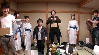 Nanami  Hirose & Uta Kohaku & Yuka Osawa encircling Orgy Yon Cute Devils Alongside Unmentionables - CosplayInJapan